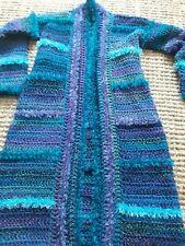 SALE! LUNiQUE handmade chunky crochet cardigan blues 10-14