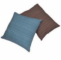 Dekokissen Kissen Dekoration  Baumwolle rotbraun blau weiß Hülle Öko-Tex wohnen