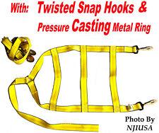 Car Dolly Wheel Net Tire Basket Tow Strap Twisted Snap Hook Heavy Duty Set of 2