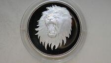 1969 Yemen 2 Riyals Lion Head Silver Proof coin