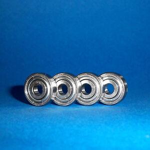 4 Kugellager 608 ZZ / 8 x 22 x 7 mm