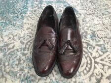 Johnston Murphy Wingtip Tassel Loafers Size 10 D Burgundy Leather-8140