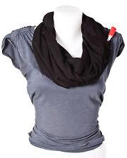 FlaskScarf Women's Black Cotton Jersey Infinity Scarf (Hidden 8 Ounce Flask)