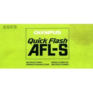 Olympus AFL-S Quick Flash Operating Manual Instructions User Guide Book