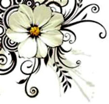 20  water slide nail art transfer white green flower corner tip 5/8inch trending