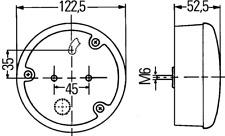 2SD964169-337 Hella LED Schluss-Brems-Blinkleuchte rund, 24V LKW Bus Wohnmobil