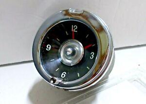 1959 1960 59 60 Chevy Chevrolet Clock Serviced Works Perfectly Impala El Camino