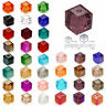 Free Shipping 50pcs 4mm Cube Square Faceted Crystal Austria Colorful Loose beads