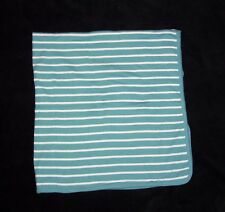 New listing Carters Blue White Stripe Baby Blanket Receiving Swaddle Stretch Jersey Knit