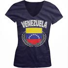 Venezuela Shield Crest Coat Of Arms Venezuelan Country VE Juniors V-Neck T-Shirt