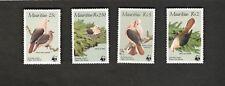 1995 Mauritius SC #613-616 WWF PINK PIGEON  MNH stamps