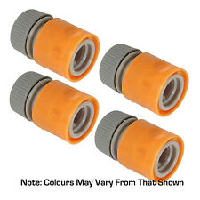 "4 X HOSE CONNECTORS FOR 1/2"" HOSE FULLY HOZELOCK COMPATIBLE FOR TAPS & HOSES"