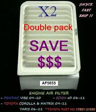 Double Pack For Air Filter Toyota Corolla Matrix Yaris Pontiac Vibe & Scion xD