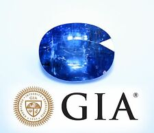 GIA certified 22.38 carats Blue Sapphire Natural Unheated, Oval Loose Stone