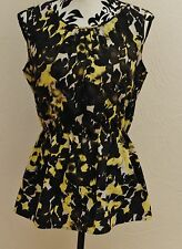 ST. JOHN COLLECTION 100% SILK FLORAL  TOP-NORDSTROM retail $495-S-NWT-$110