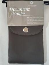 Samsonite Document Passport Bill Coin Holder with Strap. Gray New SM8001TP