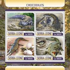 Sierra Leone 2017 MNH Crocodiles 4v M/S Dwarf Crocodile Reptiles Stamps