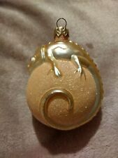 1999 Patricia Breen #9904 Peach Chameleon Christmas Ornament Peachtree Exclusive