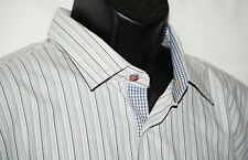 Men's Tallia shirt XL 17.5 NWOT flip cuff striped shirt
