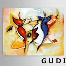 GUDI-Handpainted Oil Painting On Canvas Modern Abstract Art for home decor