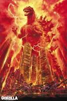 Vintage GODZILLA FILM MOVIE METAL TIN SIGN POSTER WALL PLAQUE
