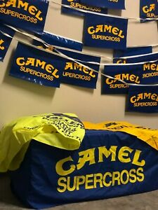 Camel Supercross Hay Bale cover, Yellow flag and string pennant
