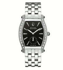 Swiss Made Bulova Accutron 63R006 Saleya Diamond Accented SS Dress Ladies Watch