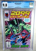 2099 Unlimited #1 Origin/1st App Hulk 2099 Marvel 1993 CGC 9.8 NM/MT Comic N0031
