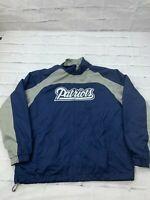 NFL Patriot's Mens Size Medium Football 100% Polyester Fleece Windbreaker Jacket