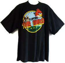 Angry Birds Mens Size 2XL Graphic T Shirt Flipping the Bird Cotton Black