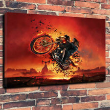 """Bat Out Of Hell Printed Canvas Picture A1.30""""x20"""" 30mm Deep Home Decor Rock"""
