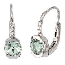 Diamant-Ohrschmuck im Hänger-Stil mit echten Edelsteinen Schnappverschluss