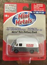 Mini Metals ~ Metro Dairy Delivery Truck ~ NEW ON CARD