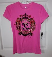 NWT Womens Juicy Couture Pink Cerise Royal Shirt Size XS