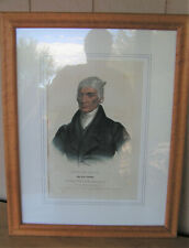Antique Black Hoof Principal Chief of the Shawannes Colored Lithograph Framed