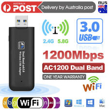 1200Mbps USB 3.0 Wireless WiFi Network Receiver Adapter 5GHz Dual Band Dongle AU