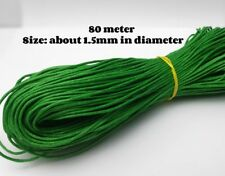 80 Meter Cotton wax cord/ Jewelry making supply/ Macrame bracelet supply