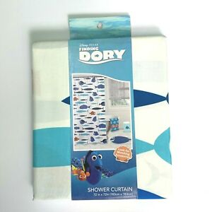 """SHOWER CURTAIN """"FINDING DORY"""" DISNEY PIXAR 72"""" x 72"""" 100% POLYESTER NWT"""