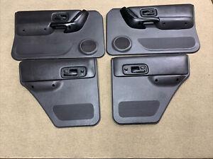 97-01 Jeep Cherokee XJ Sport Classic Set Of (4) Power Door Panels OEM Agate