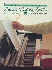 Music Writing Book. 12 stave 64 pages, Manuscript Paper, ALFRED - 184