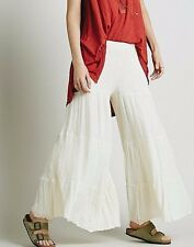 NWT FREE PEOPLE SzXS/S JEN'S PIRATE BOOTY SEA DRIFT TIERED WIDE LEG PANT IVORY