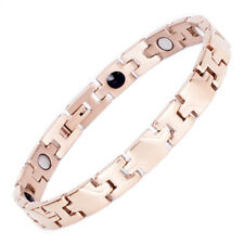 Elegant Novoa Women Magnetic Bracelet Quad-Element Stainless Titanium Rose Gold