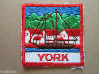 York Canada Canadian Boy Scouts Scouting Woven Cloth Patch Badge