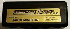 68531 REDDING 3-DIE PREMIUM DELUXE BOTTLE NECK SET - 260 REMINGTON - BRAND NEW