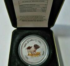Australia 1 dollar 2007 Lunar Year of the Pig  Silver 1 oz  Box COA