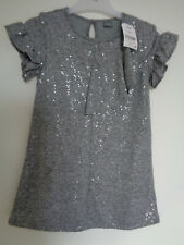 Next girls grey sequin dress age 6 years NEW WITH TAGS
