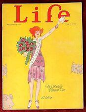 Life Magazine ~ September 9th, 1926 ~  L.J. Holton Cover