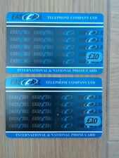 Pair Of Easy Call International Phone Cards, £10 Value, Used
