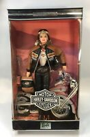 2000 Harley-Davidson blonde frosted Hair Barbie Doll Collector Series #4 leather