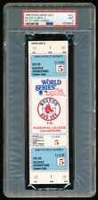 1986 World Series Game 5 Full Ticket PSA 9 Mint Mets~Red Sox Fenway Park